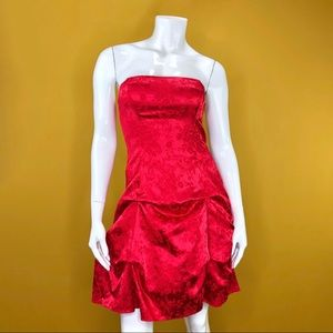 Vintage Zum Zum NIKI LIVAS Strapless Red Dress